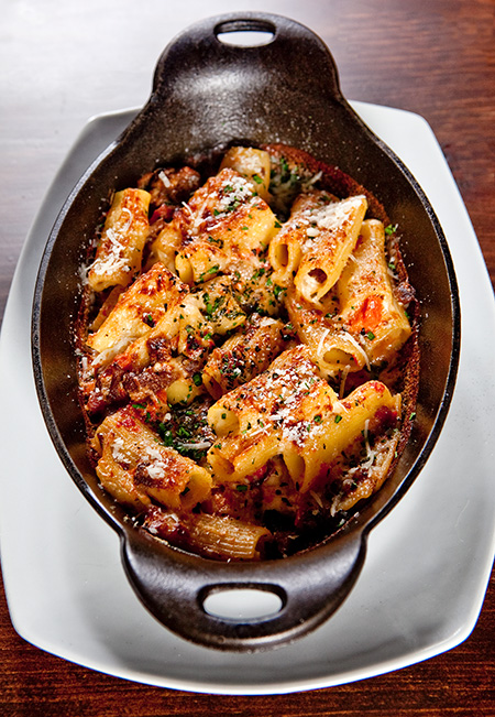 Baked rigatoni at Trade