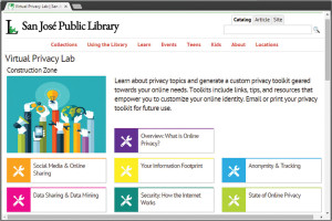 San José (Calif.) Public Library's privacy toolkit creates a personalized list of links, tips, and tutorials that reflect a user's online privacy preferences.