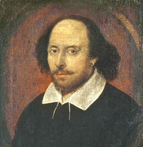 William Shakespeare (artist and authenticity unconfirmed). Held by the National Portrait Gallery, London.