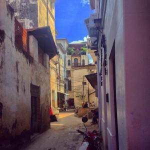 Tanzania: A market street in Zanzibar's Stone Town, a UNESCO World Heritage Site.