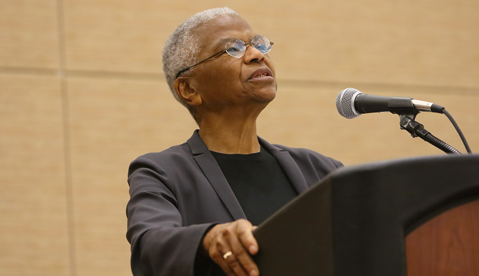 Mary Frances Berry at the Dr. Martin Luther King Jr. Sunrise Celebration in Boston.