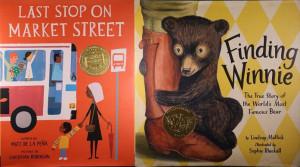 Newbery winner Last Stop on Market Street, and Caldecott winner Finding Winnie