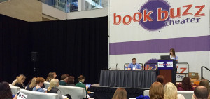 Kelly Coyle-Crivelli opens the Penguin Random House Book Buzz Theater session.