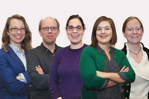 "Team ISponsor: Public Library AssociationProject: Public Library Association Online Professional Tools Curation and Future Forecasting From left: Christina Golm, John Daquino, Erin Hollingsworth, Jacqueline Mayse, Natalie Bazan""In the 21st-century knowledge-based economy, the library profession will continue to expand beyond traditional print-bound materials and keep moving toward the preservation, management, and distribution of information in all of its various formats. Helping to bridge the digital divide will become increasingly important so that our patrons can keep up with the technological demands of the workforce.""—John Daquino"