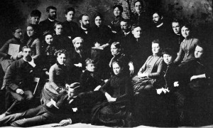 First library school students and faculty, 1887