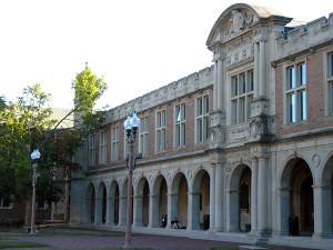 Washington University's Ridgley Hall, site of the World's Fair Hall of Congresses, where ALA sessions were held.