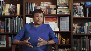 Screenshot from video introduction to Carla Hayden on the White House Facebook page