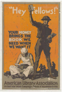 Poster, ALA United War Work Campaign, Week of November 11, 1918.