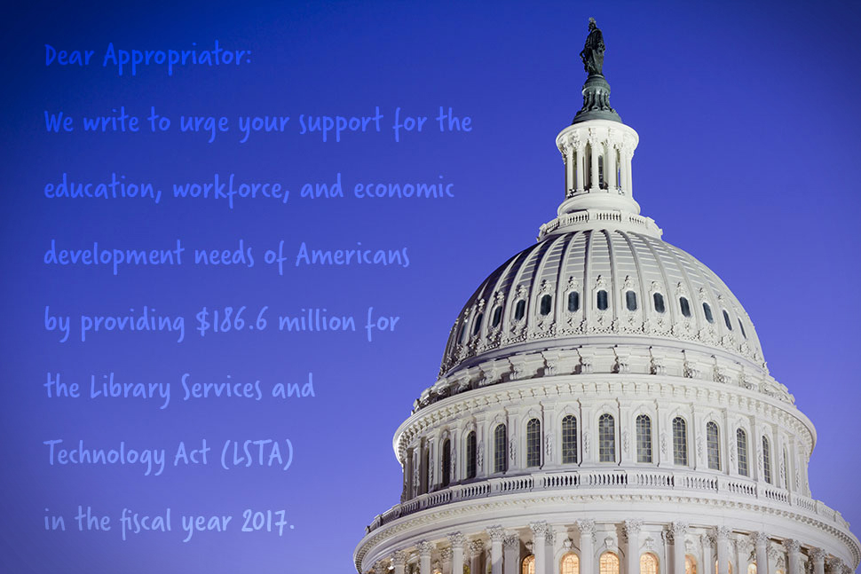 Help preserve funding for the LSTA and IAL