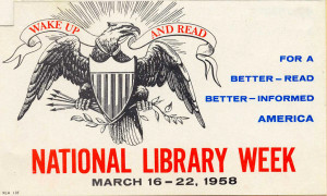Artwork for the 1958 National Library Week campaign