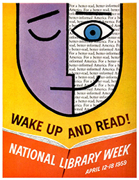 ALA poster, National Library Week 1959