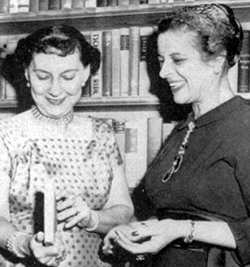 "On March 15, 1958, First Lady Mamie Eisenhower (left) met with ALA President Lucile M. Morsch at the White House. President Dwight Eisenhower's proclamation the same day called for ""the fullest possible participation"" in National Library Week."