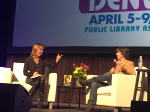 Vailey Oehlke, PLA President (left) and Tig Notaro at PLA 2016 in Denver.