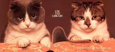 Baker and Taylor, the library cats