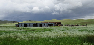 An old sheep barn and loafing sheds will one day house books. Photo by Allison Amend