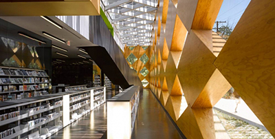 Francis A. Gregory Library, Washington, designed by Adjaye and Associates, 2012. Photo by Ed Sumner