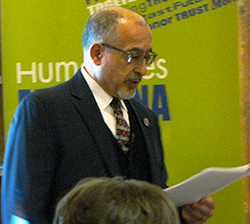 University of Montana lecturer Samir Bitar at the Darby library.
