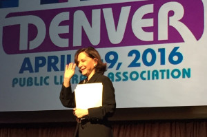 Psychologist, author, and MIT professor Sherry Turkle encouraged attendees at the Public Library Association 2016 conference in Denver to put down their phones in favor of face-to-face conversation.