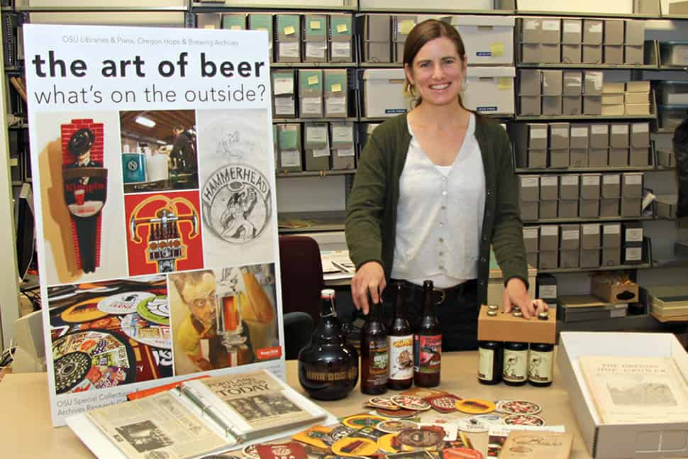 Tiah Edmunson-Morton, archivist of the Oregon Hops and Brewing Archives at Oregon State University Photo: Krista Joy Johnson