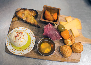 Charcuterie board at Pharmacy