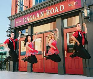 Irish dancers at Raglan Road