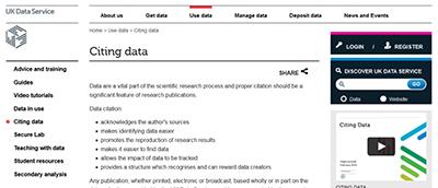 Big data citation