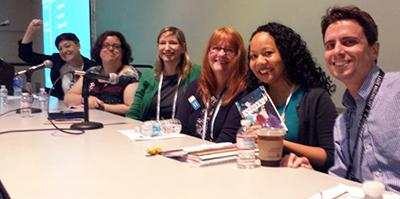 Ignite Session presenters, 2015: Beth Saxton, Jenny Powell, Zachary Newell, Joan Petit, Mary Abler, and Simone Fujita