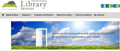 Jackson County (Oreg.) Library Services website