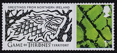 Northern Ireland Game of Thrones stamp for Episode 1