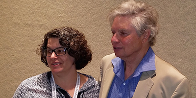 Avi (right) with Sedley Abercrombie, lead library media coordinator for Davidson County (N.C.) Schools