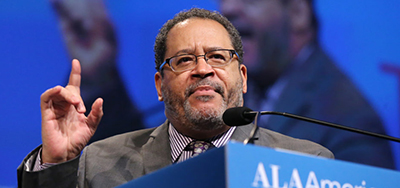 Michael Eric Dyson delivers the keynote address during the Opening General Session