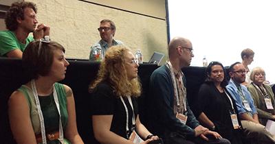 The maker panel, from left: (Top) Jesse Vieau, Trent Miller. (Bottom) Rebecca Millerjohn, Mary Kate Quillivan, Michael Spelman, Michele Gorman, Tim Carrigan, Honore Bray, Rebekah Willett