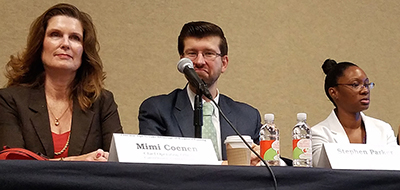 Mimi Coenen, Stephen Parker, and Trina Travis at the Washington Office's panel on the Workforce Innovation and Opportunity Act