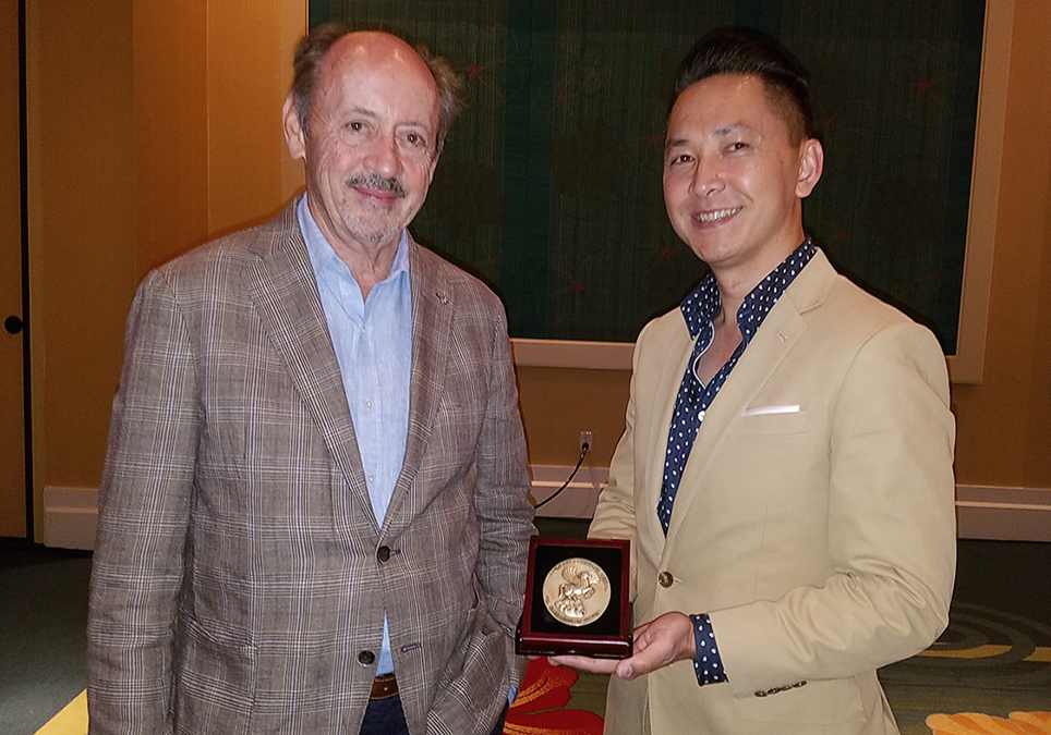Billy Collins (left) and Viet Thanh Nguyen