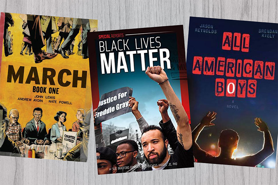 Books from Hennepin County (Minn.) Library's #BlackLivesMatter Reads for Teens list