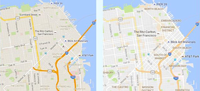 Google Maps, before and after