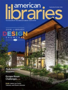 American Libraries September/October 2016 cover