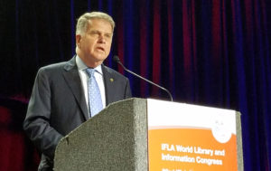 David Ferriero, archivist of the United States, delivered a plenary address on open government at the 2016 World Library and Information Congress.