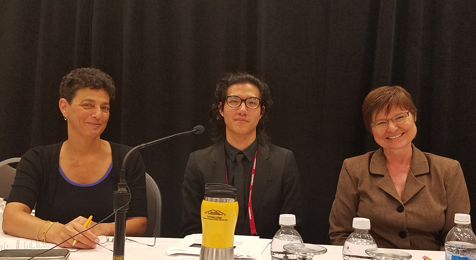 From left: Irene Munster, associate director of the Priddy Library for the Universities at Shady Grove in Rockville, Maryland; Raymond Pun, first-year student success librarian at California State University, Fresno; and Sharon McQueen, a faculty member at the University of Wisconsin‒Madison.