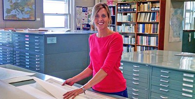 Jaime Martindale, map and geospatial data librarian at the Arthur A. Robinson Map Library at University of Wisconsin-Madison, helped find maps showing the site of a 1966 B-52 bomber crash in Sawyer County