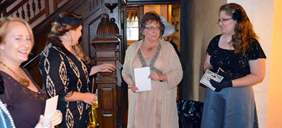 A library-sponsored Downton Abbey-themed event drew women dressed in period wear to the Kokomo-Howard County (Ind.) Public Library