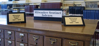 Milwaukee Sentinel indexes, Milwaukee Public Library