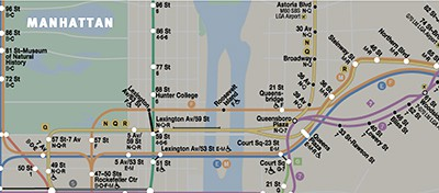New York subway map showing stations with Wi-Fi