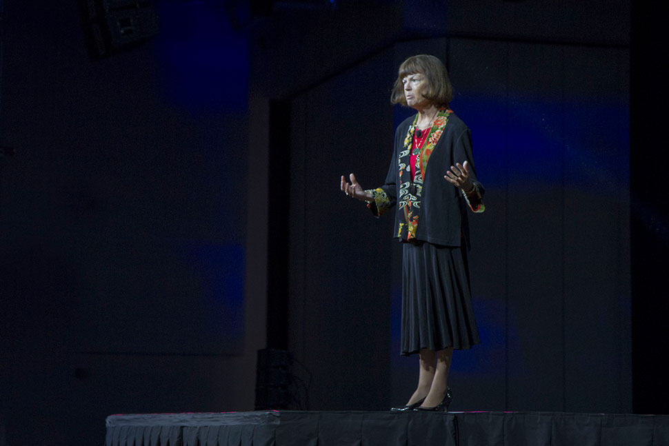 Donna Scheeder, president of the International Federation of Library Associations and Institutions (IFLA), opened the 82nd IFLA World Library and Information Congress Sunday morning. The theme this year is connections, collaboration, and community.
