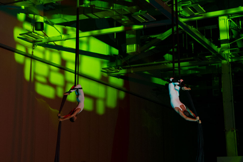 Aerialists performed for a portion highlighting Ohio's pioneers in flight from the Wright Brothers to John Glenn. Glenn, an astronaut and Ohio senator, welcomed IFLA attendees in a recorded message.