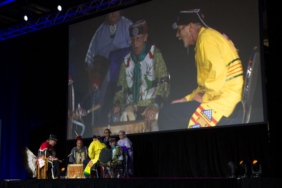 Ohio's Native American history was celebrated with the drumming of the Red Circle Singers.