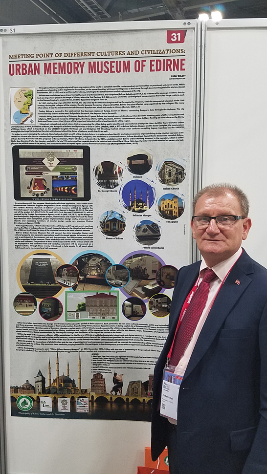 Ender Bilar, director of the Urban Memory Museum of Edirne, Turkey, presented a poster session on this new library and museum of local history and culture.