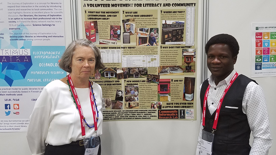 University of Illinois at Urbana-Champaign Professor Kate Williams and her student Noah Samuel conducted statistical research on Little Free Libraries and their users nationwide.