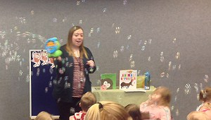 Bubbles at storytime
