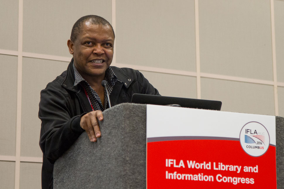 Eddy Maepa, executive director for core programs at the National Library of South Africa in Pretoria, discusses his library's efforts to comply with the United Nations' Sustainable Development Goals.
